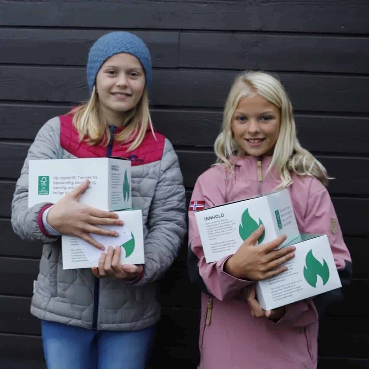 to elever med dugnadsprodukter